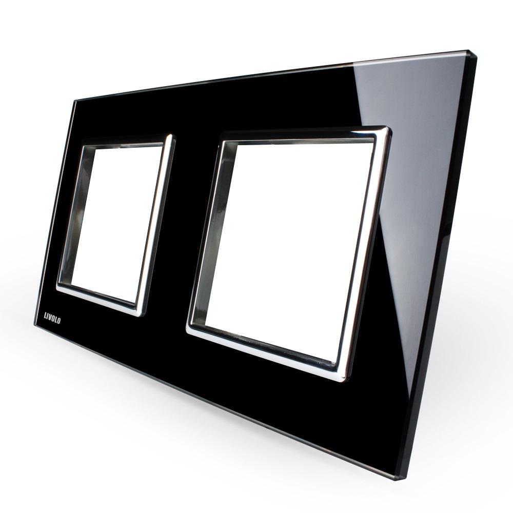 Стеклянная рамка Livolo VL-C7-SR черная