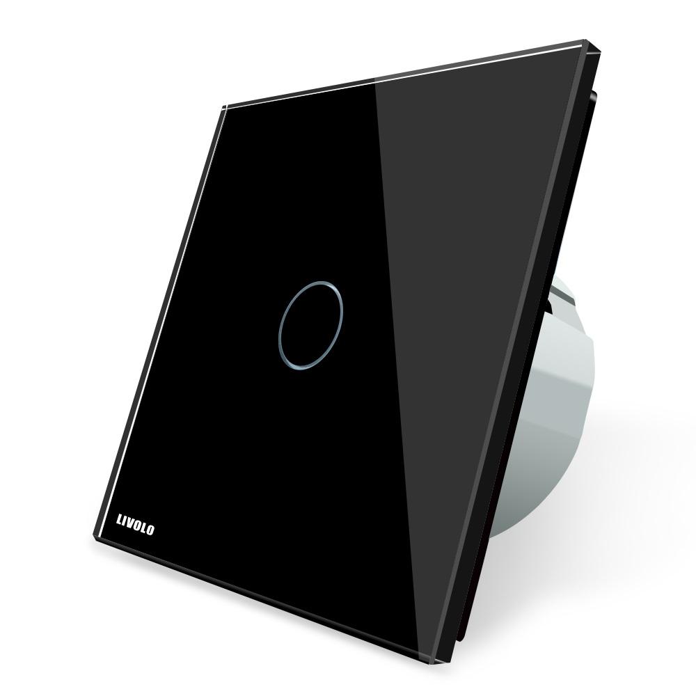 Cенсорный выключатель VL-C701 Livolo, черный