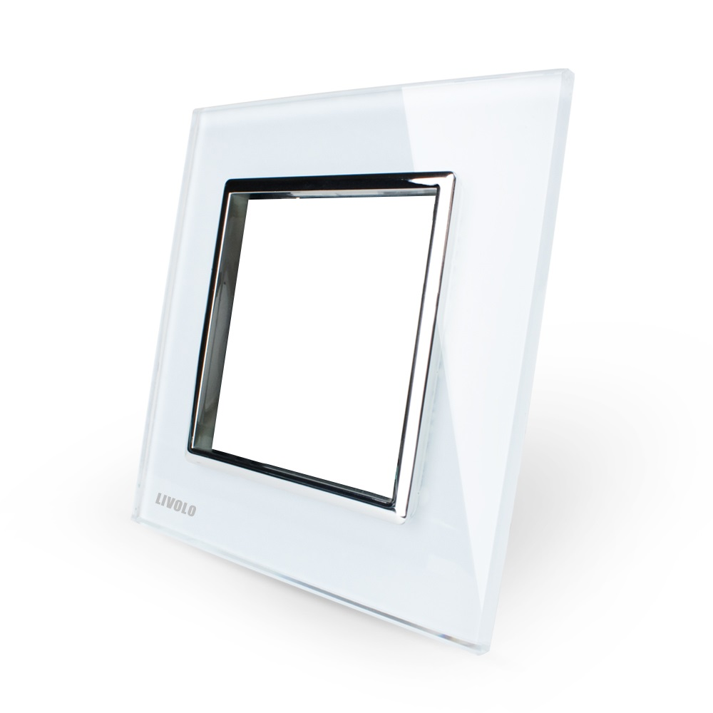 Стеклянная рамка Livolo VL-C7-SR белая