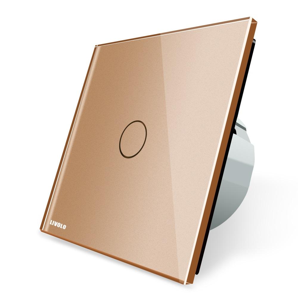 Cенсорный выключатель VL-C701 Livolo золотой