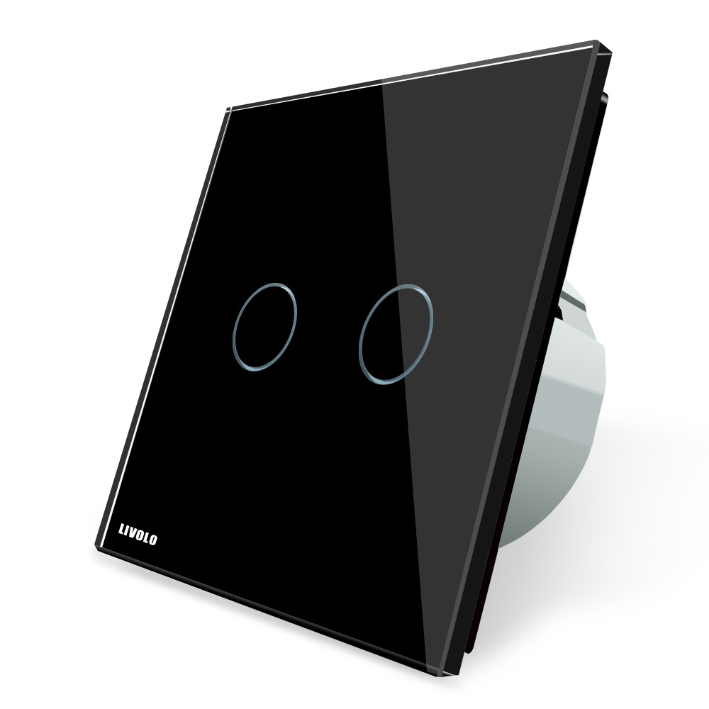 Cенсорный выключатель Livolo VL-C701, черный