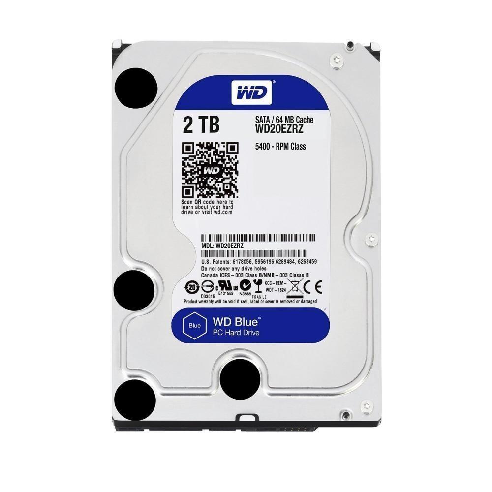 жесткий диск HDD 2ТБ, Western Digital Blue, WD20EZRZ