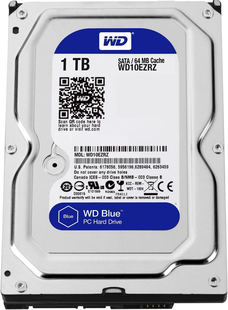 жесткий диск HDD 1ТБ, Western Digital Blue, WD10EZRZ